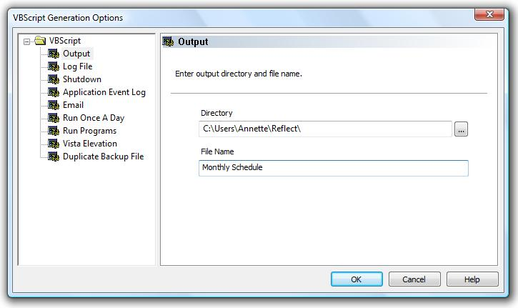 How to use VBScript with Macrium Reflect